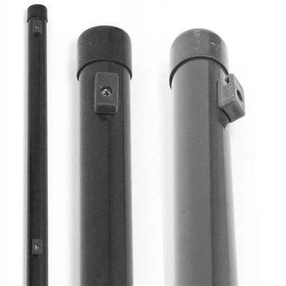 Zaunpfosten Zaunstreben 34 mm RAL 7016 anthrazit