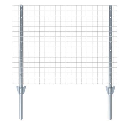 Zaunset Volierendraht Gartenzaun 1 x 10 m Drahtzaun 16 mm Zaun Komplett-Set