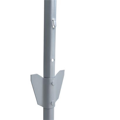 Zaunpfosten Zaunanker Erdanker 107 cm 8er Set Zaunhalter Pfostenset Pfosten Grau