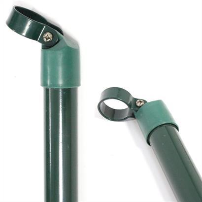 Zaunpfosten und Zaunstreben 34 mm RAL 6005 grün
