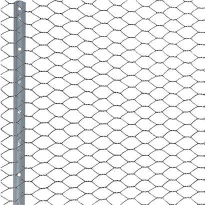 Zaunset Sechseckgeflecht Zaun Draht 0,50 x 25 m Komplett-Set Drahtzaun 13 mm