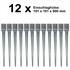 12 Einschlaghülsen Vierkant 900 mm