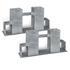 2x Brennholzstapelhilfe feuerverzinkt und witterungsbestaendig, geeignet fuer Vierkanthoelzer von ca. 70 x 70 mm