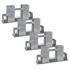 4x Brennholzstapelhilfe feuerverzinkt und witterungsbestaendig, geeignet fuer Vierkanthoelzer von ca. 70 x 70 mm
