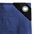 Abdeckplanen Farbe Blau Grün aus PE Tarpaulin reiß- und wasserfest mit Metalloesen und verstaerktem Saum Grammatur waehlbar 90 g/m² 180 g/m² 260 g/m