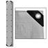 Abdeckplanen Farbe Grau 1,5m x 12 m aus PE Tarpaulin reiß- und wasserfest mit Metalloesen und verstaerktem Saum Grammatur waehlbar 90 g/m² 180 g/m² 260 g/m