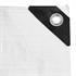 Abdeckplanen Farbe weiss aus PE Tarpaulin reiß- und wasserfest mit Metalloesen und verstaerktem Saum Grammatur waehlbar 90 g/m² 180 g/m² 260 g/m