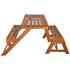 Akazienholz wandelbare Gartenbank in Picknickset mit zwei Baenken