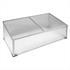 Aluminium Fruehbeet mit Waenden aus transparenten Hohlkammerplatten, eine arretierbare Deckenplatte zur Belueftung, besonders leicht