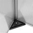 Doppel Fruehbeet mit Aluminiumrahmen und Waenden aus transparenten Hohlkammerplatten, besonders leicht