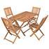 Akazienholz Gartenmöbel Set mit 4 Gartenstühlen