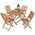 Akazienholz Gartenmöbel Set für 4 Personen