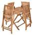 Akazienholz Gartenmöbel Set klappbar