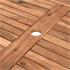 Akazienholz Gartenmöbel Set mit Schirmloch im Tisch