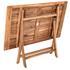 Akazienholz Gartenmöbel Set mit Klapptisch