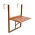 Holz Balkon Haengetisch aus Akazienholz, Tischplatte klappbar, platzsparend, Groeße 60cm x 40 cm, inkl. Metallhaken zum Einhaengen