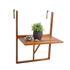 Holz Balkon Haengetisch aus Akazienholz, Tischplatte klappbar, platzsparend, Groeße 60cm x 40 cm, Rueckansicht