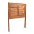 Holz Balkon Haengetisch aus Akazienholz, Tischplatte klappbar, platzsparend, Groeße 60cm x 40 cm, Ansicht von Klappmechanismus
