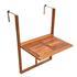 Holz Balkon Haengetisch aus Akazienholz, Tischplatte klappbar, platzsparend, Groeße 60cm x 40 cm, Ansicht von eingeklappter Tischplatte