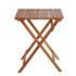 Huebsches 3teiliges Balkonmöbel Set aus massivem Holz, platzsparend zusammenklappbar, witterungsbestaendig