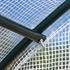 Bogendach Gewächshaus mit robustem Stahlrahmen, Netzverstaerkte PE-Folie, seitliche Fenster zur Belueftung