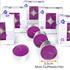Estexo® 24 Maxi Teelichter, Duft Lavendel,  Brenndauer 9 Stunden
