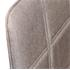 Esszimmerstuhl 2 er Set mit Stoffbezug in Beige, 3 cm Polsterung, mit Metall Stuhlbeinen in Holzoptik, Detailansicht der Rueckenlehne