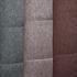 Esszimmerstuhl Freischwinger, Detailansicht von Stoffbezug in den Farben Beige, Grau und Braun, Polsterstuhl mit Metall Gestell verchromt