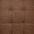 Esszimmerstuhl Freischwinger mit Stoffbezug in der Farbe Braun, Polsterstuhl mit Metall Gestell verchromt, Detailansicht von Stoffbezug