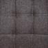 Esszimmerstuhl Freischwinger, Stoffbezug Dunkelgrau, Polsterstuhl mit Metall Gestell verchromt