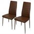 Esszimmerstuhl 2 er Set von Estexo mit Kunstlederbezug in der Farbe braun, Stuhl mit Stuhlbeinen aus Metall farblich passend lackiert
