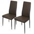 Esszimmerstuhl 2 er Set von Estexo mit Kunstlederbezug in der Farbe grau, Stuhl mit Stuhlbeinen aus Metall farblich passend lackiert