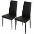 Esszimmerstuhl Set von Estexo mit Kunstlederbezug in der Farbe schwarz, Stuhl mit Stuhlbeinen aus Metall farblich passend lackiert