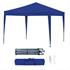 Estexo® Falt Klapp Pavillon Farbe Dunkelblau, 3x3m wasserabweisend, leichter Aufbau durch Scherenmechanismus