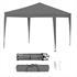 Estexo® Falt Klapp Pavillon 3x3m in der Farbe Dunkelblau, wasserabweisend