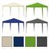 Estexo® Falt Klapp Pavillon Farben Gruen, Grau, Beige, Blau, 3x3m wasserabweisend, leichter Aufbau durch Scherenmechanismus