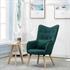 Fernsehsessel mit Kissen von Estexo, TV Sessel Polsterung mit Knoepfen, stabile Holzbeine, Farbe Dunkelgruen