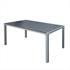Estexo® WPC Gartentische in der Farbe Schwarz Grau, Groesse 150x90cm, mit pulverbeschichteten Stahlrahmen, Witterungs- und UV-bestaendig