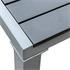 Estexo® WPC Gartentische in der Farbe Schwarz Grau, Groesse 150x90cm, mit pulverbeschichteten Stahlrahmen, Witterungs- und UV-bestaendig, Detailansicht Tischplatte