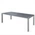 Estexo® WPC Gartentische in der Farbe Schwarz Grau, Groesse 190x90cm, mit pulverbeschichteten Stahlrahmen, Witterungs- und UV-bestaendig