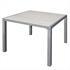 Estexo® WPC Gartentisch 90 x 90 cm, Beige Grau, Witterungs- und UV-bestaendig, besonders pflegeleicht