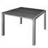 Estexo® WPC Gartentisch 90 x 90 cm, Farbe Schwarz Grau, Witterungs- und UV-bestaendig, besonders pflegeleicht