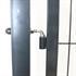 Gartentuer Farbe Grau RAL 7016 Anthrazit, abschliessbar mit passenden Tuerpfosten und verstellbaren Edestahlscharnieren