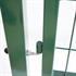 Gartentuer Farbe Gruen RAL 6005 Moosgruen, abschliessbar mit passenden Tuerpfosten und verstellbaren Edestahlscharnieren