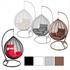 Polyrattan Haengesessel mit Gestell und Kissen, in den Farben weiss, grau, braun und schwarz, Haengekorb aus einem Teil, edle Verarbeitung, witterungsbeständig