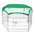 Verzinktes Hasen Freilaufgehege mit Schutznetz in Grün, bietet Sonnenschutz und Greifvogelschutz, für alle Kleintiere geeignet