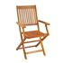 Holz Balkonmöbel Set, Tisch klappbar mit Sonnenschirmlochung