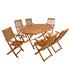 Holz Balkonmöbel Set Tisch oval klappbar