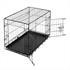 Hunde Transportbox Groesse L, sicher und stabil mit praktischem Tragegriff, zusammenklappbar, schneller Aufbau