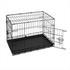 Hunde Transportbox Groesse M, sicher und stabil mit praktischem Tragegriff, zusammenklappbar, schneller Aufbau